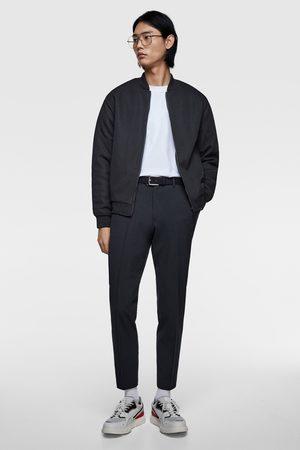 Zara Padded piqué bomber jacket