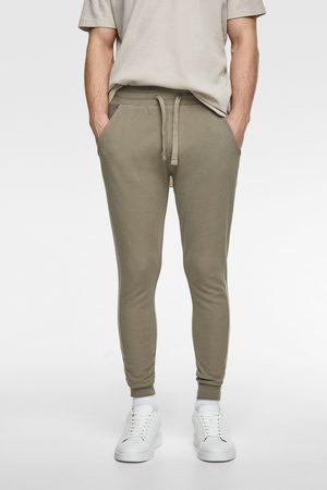 Zara Textured weave jogging trousers