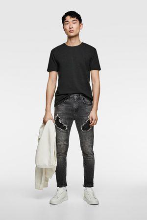 Zara Ripped biker jeans