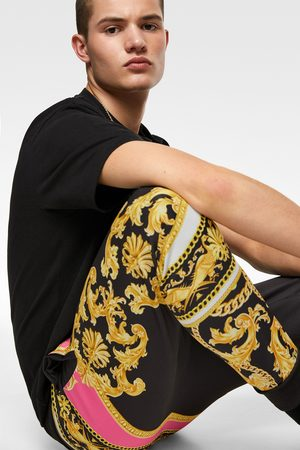 Zara Neon baroque print jogging trousers