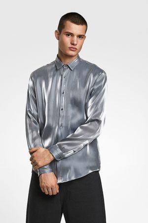 Zara Lamé-effect shirt