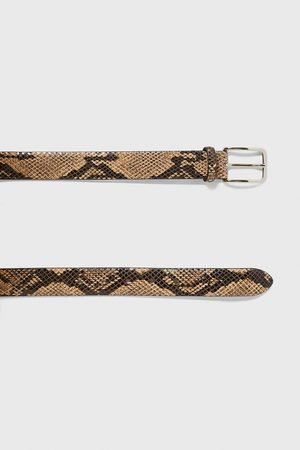 Zara Snakeskin finish belt
