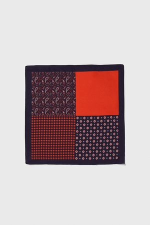 Zara Contrast pocket square