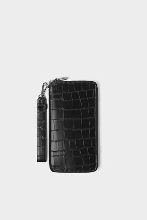 Zara Embossed mock croc xl wallet