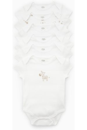 Zara 6-pack of zebra bodysuits