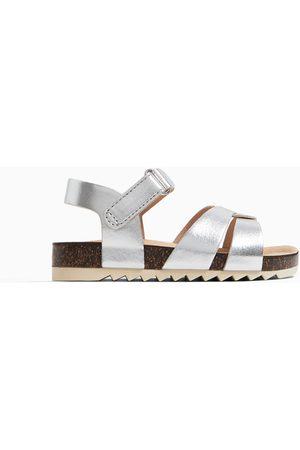 Zara Metallic strap sandals