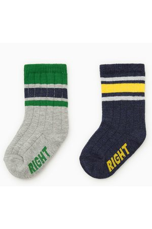 Zara Baby Socks - 2-pack of striped socks