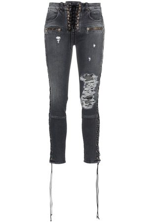 Unravel Project Skinny stonewash ripped skinny jeans