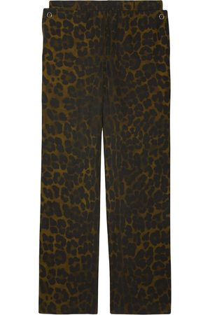Burberry Straight-fit leopard print trousers