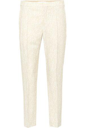 Chloé Mid-rise straight crêpe pants