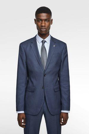 Zara Coolmax® textured suit blazer