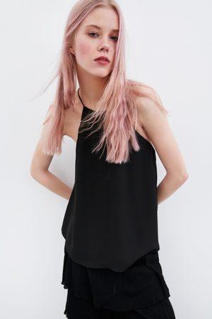 Zara Women Halterneck Tops - Halter top