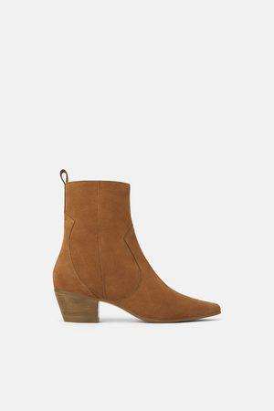 Zara Cowboy heel ankle boots