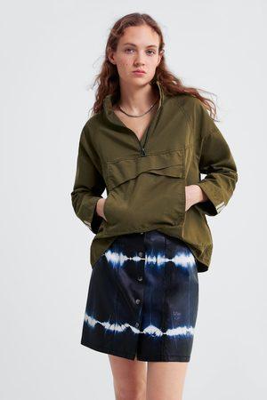 Zara Tie-dye faux leather mini skirt