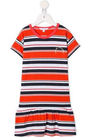 Marc Jacobs Girls Casual Dresses - Striped logo T-shirt