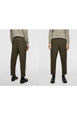 Zara Pleated chino trousers