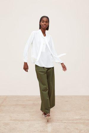 Zara Women Shirts - Shirt with bow