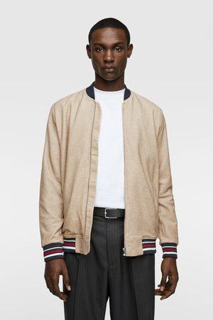 Zara Textured bomber jacket
