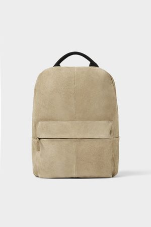 Zara Men Rucksacks - Soft leather backpack