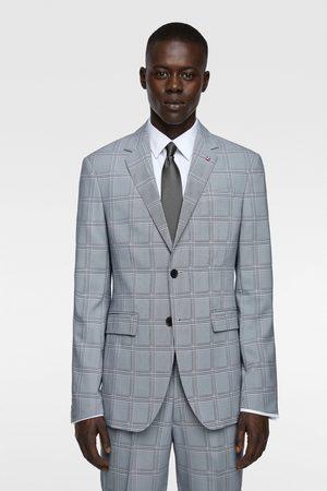 Zara Coolmax® check suit blazer
