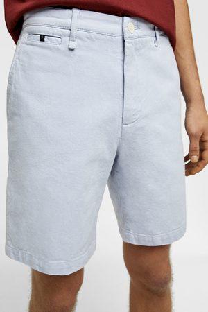 Zara Men Bermudas - Textured bermuda shorts with contrast trim