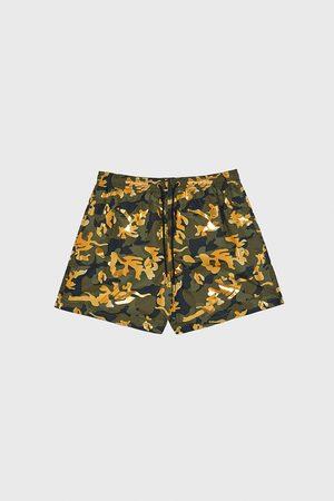 Zara Men Swimming Briefs - Contrast camouflage print swimming trunks