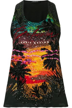 Balmain Sequin embellished tank top