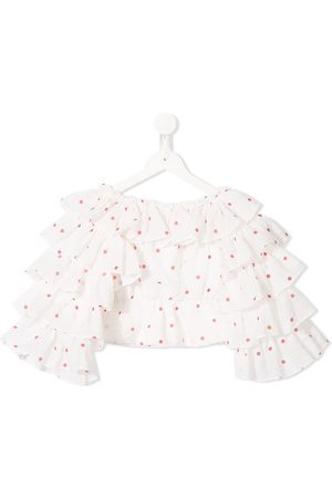 Little Bambah Polka dot ruffled top