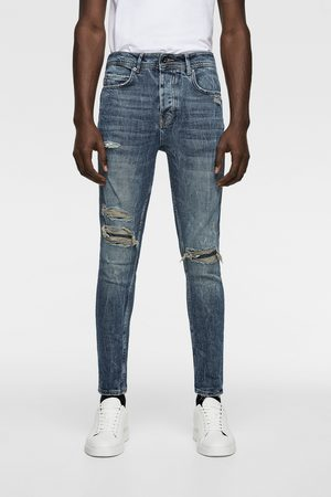 Zara NEW CARROT FIT RIPPED JEANS