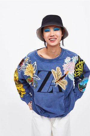 Zara Sweatshirt with contrast logo