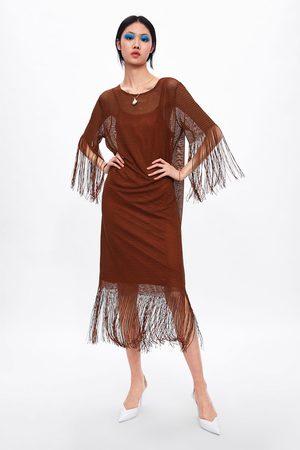 Zara Textured tunic with fringe