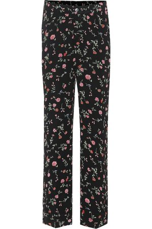 Ganni Floral crêpe pants