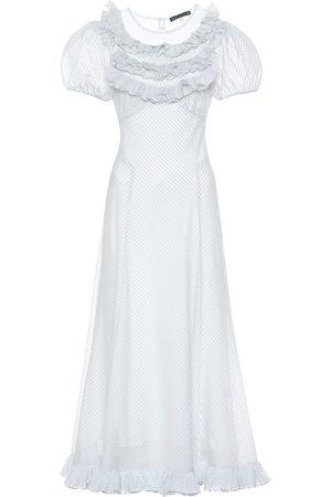 AlexaChung Striped cotton-blend dress
