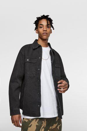 Zara Printed denim jacket