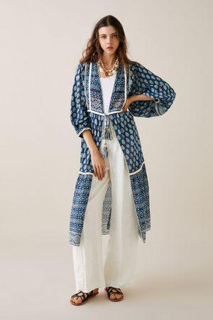 Zara Printed kimono with embroidery