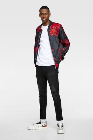 Zara Men Bomber Jackets - Floral print bomber jacket