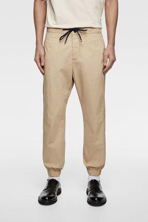 Zara Poplin jogging trousers