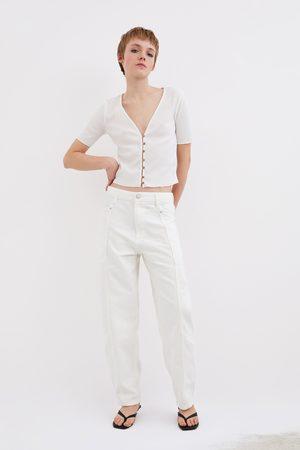 Zara T-shirt with button details