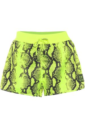 OFF-WHITE Python-printed running shorts
