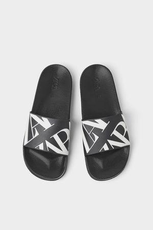 Zara Slide sandals with logo