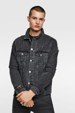 Zara Men Denim Jackets - Ripped denim jacket