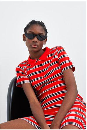 Zara Women Polo Shirts - Polo collar dress