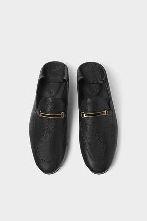 Zara Leather mule loafers