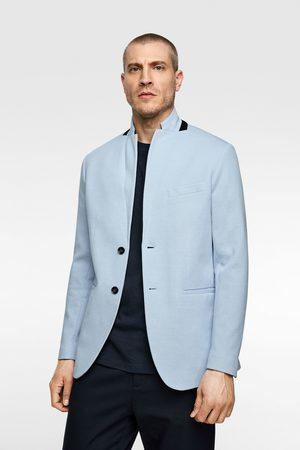 Zara Men Blazers - Two-tone structured blazer
