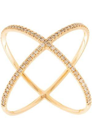 Eva Fehren 18kt rose X diamond ring