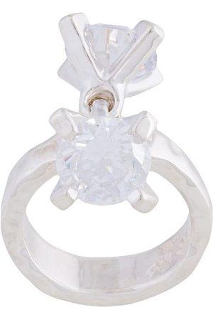 E.M. Double dangling gems ring