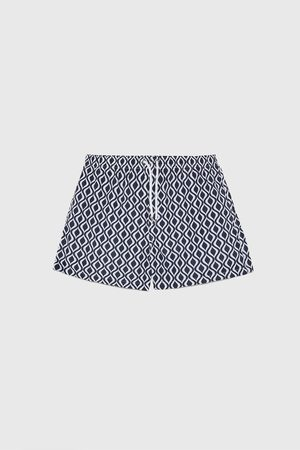 Zara Geometric print swimming trunks