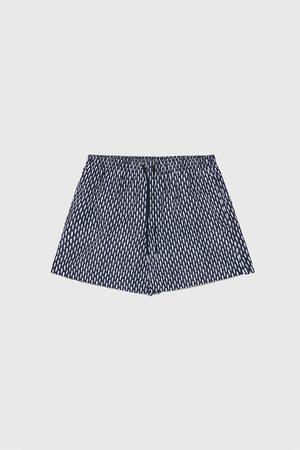 Zara Two-tone print swimming trunks