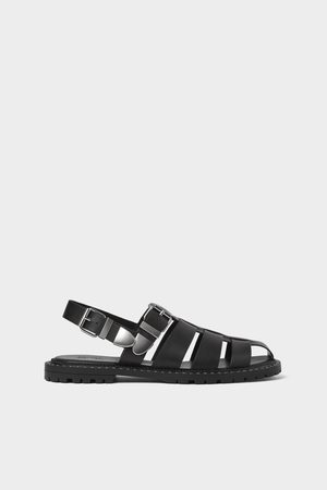 Zara Studded caged sandals