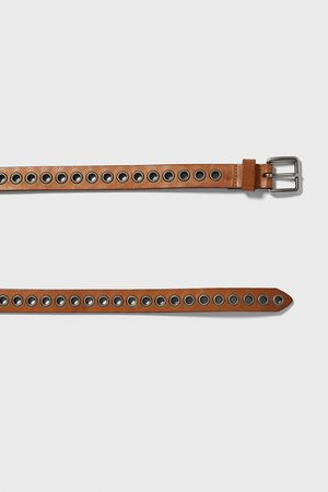 Zara Men Belts - Belt with metal eyelets